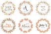 design FLORAL wreathe watercolor logo