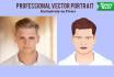 design a flat VECTOR Portrait