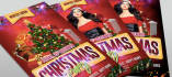design awesome Christmas Party flyer