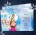 create frozen birthday invitation with your kids photo