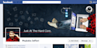 design matching cover and profile pic of facebook