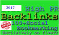 do Manual Social bookmarking upto 100 sites PR 9 to 2