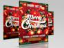 design flyer or poster for christmas