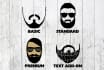 design a beard icon from your photo