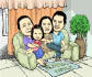 make your family cartoon caricature