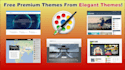 install wordpress cms includes FREE Premium theme and Plugins