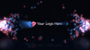 create a amazing particle logo intro