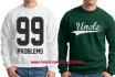 put your logo into realistic HOODIE and sweatshirt mock up