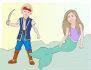 create a mermaid portrait