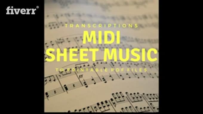 Transcribe your midi file into sheet music and sibelius file by Peyber