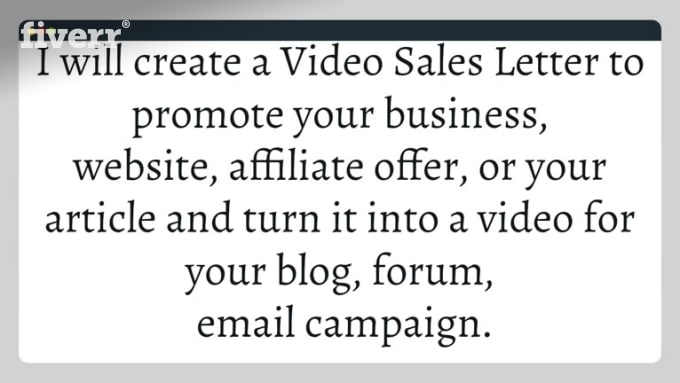 Create A Video Sales Letter By Pajamamoney4u