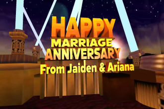 make 20th century fox 3d intro for birthday and anniversary
