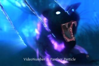 create 6 logo intro of panther, wolf, snake epic fantasy