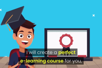 create elearning course and training video production