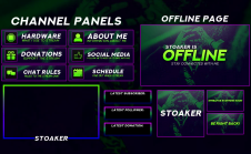 Custom Twitch Panels Design Makers for Hire | Fiverr