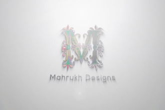 create this 3d minimal corporate style logo animation