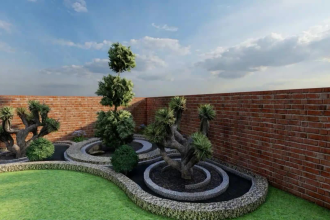 3d design your garden, backyard, patio, landscape and do realistic renders