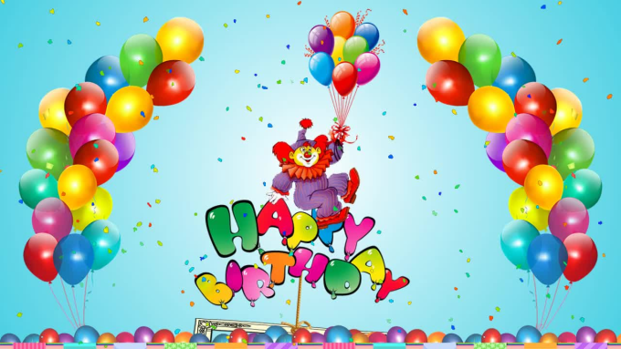 I Will Create A Happy Birthday Video Greeting Card For Your Kids Party
