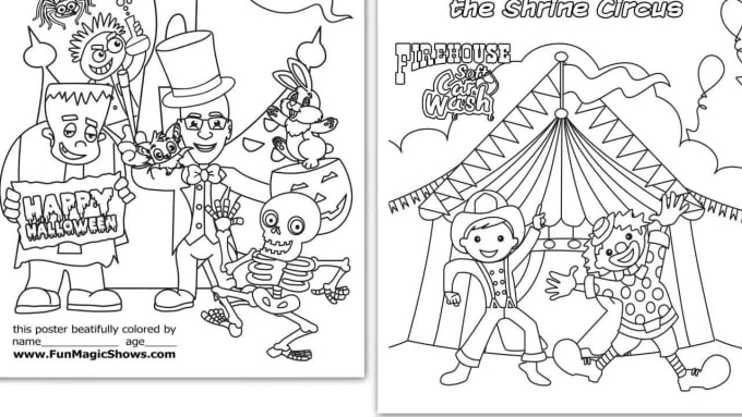 Design Printable Coloring Pages For Children Book By Hoangnhu13 Fiverr