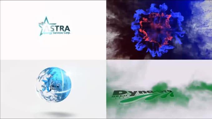 create 10 logo intro animations