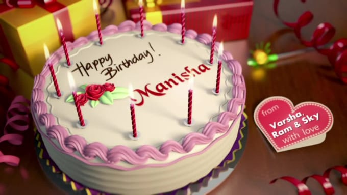 Create Birthday Greeting Video Ultra Fast Delivery By Waqarmughal313