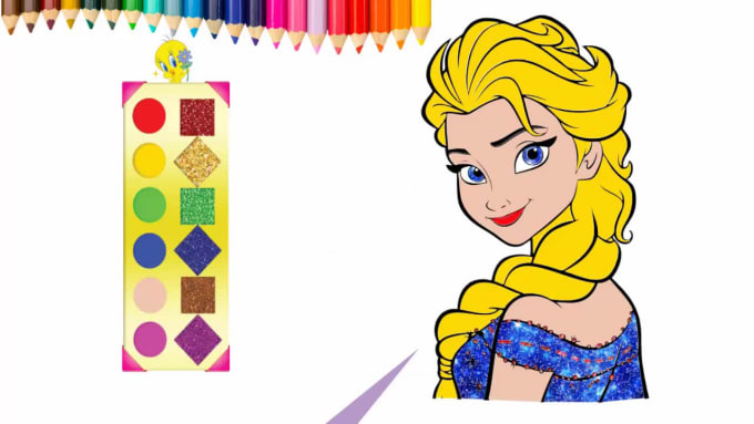 Create Coloring Pages Drawing Video For Your Youtube Channel By Raz Animation