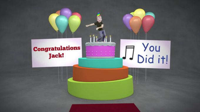 Brilliant Make A Funny Happy Birthday Cake Dancer Video By Rolion Studio Personalised Birthday Cards Veneteletsinfo