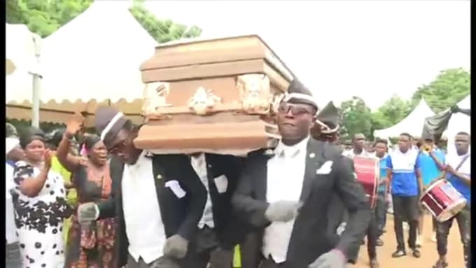 Edit Your Video With The People Dancing Under The Coffin Meme