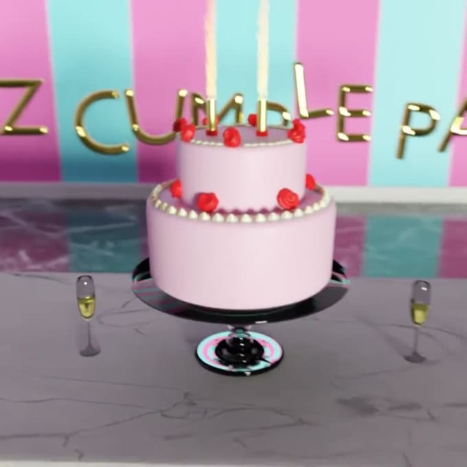 Outstanding Make A Birthday Cake 3D Video With Music Background By Jess25V Funny Birthday Cards Online Eattedamsfinfo