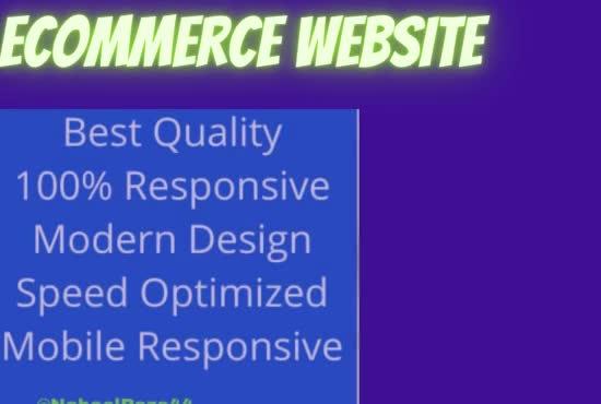 design modern professional wordpress ecommerce website or online shop