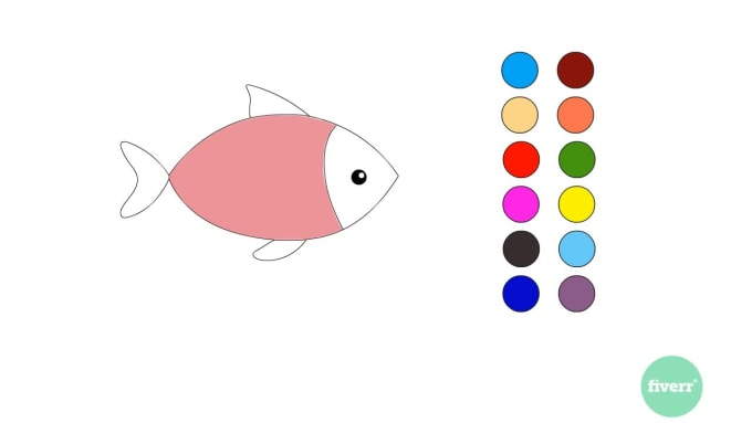 Create Coloring Pages Drawing Video For Kids By Mostafadj