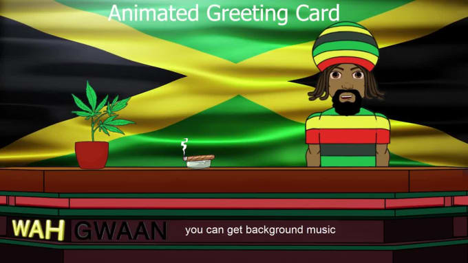 Magnificent Wish Happy Birthday As An Animated Jamaican Rasta By Xgengraffix Personalised Birthday Cards Rectzonderlifede