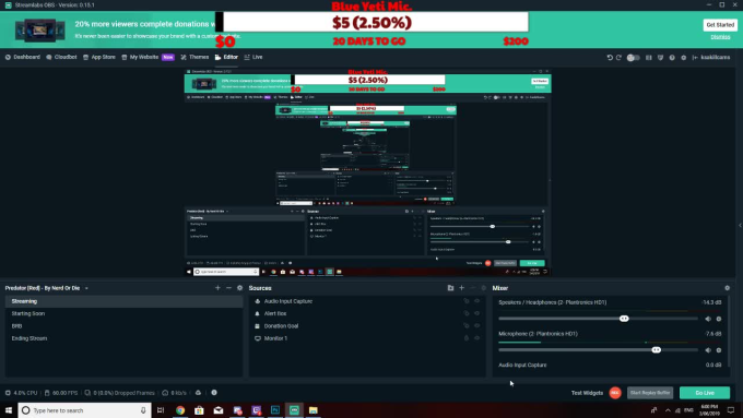 setup your obs with scenes, donations and more