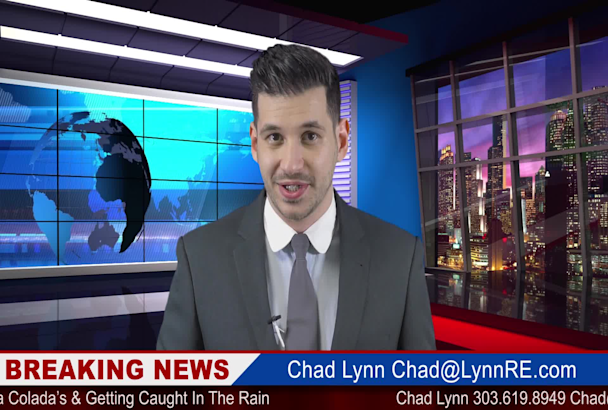 be your breaking news anchor spokesperson in full HD