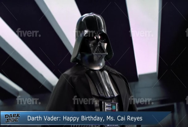 Wish A Happy Birthday From Darth Vader From Star Wars By Valtermedia