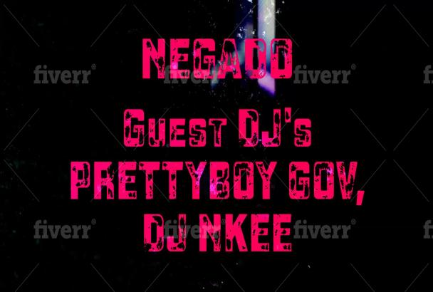 design a dj night club music event promo video