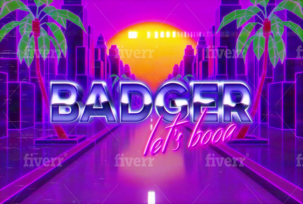 create an 80s neon city retro animation intro video of your text, logo or  brand